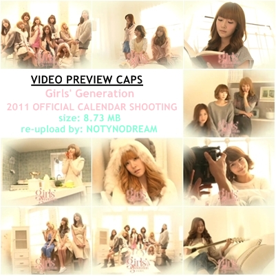|DOWNLOAD| SNSD – 2011 Girls' Generation Calendar Shooting. DOWNLOAD LINK