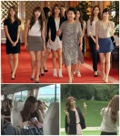 110819 SNSD at the BLUE HOUSE with the first lady